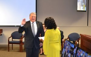andy lester gets sworn in